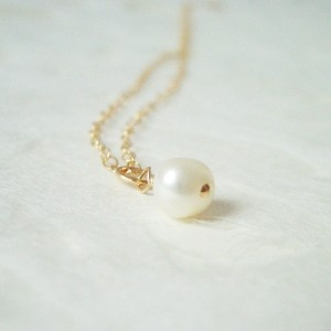 necklace gold pearl / Kette Goldperle