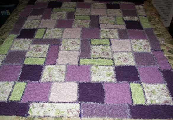 Pictures of Rag Quilts: Purple Pewter Rag Quilt