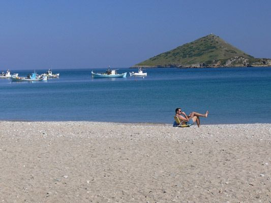 Porto Rafti Beach in the East of Athens