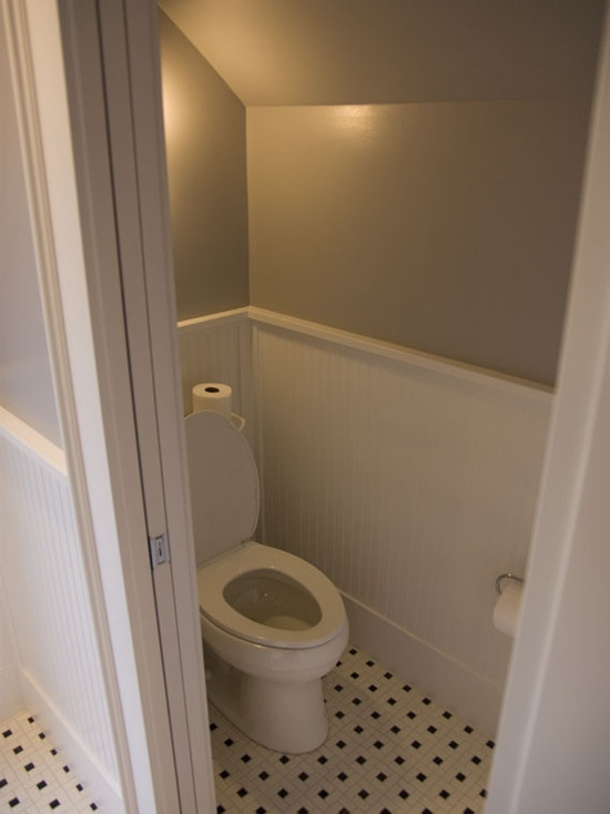 84 best images about cabin half bath upstairs on pinterest for Half bathroom designs small spaces