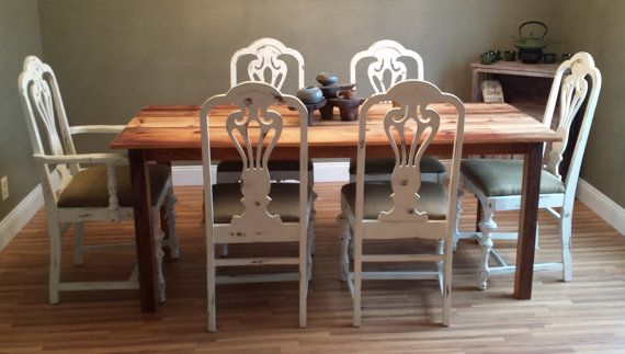 Rustic Dining Room Table Farmhouse Harvest by ThePinkToolBox, $500.00