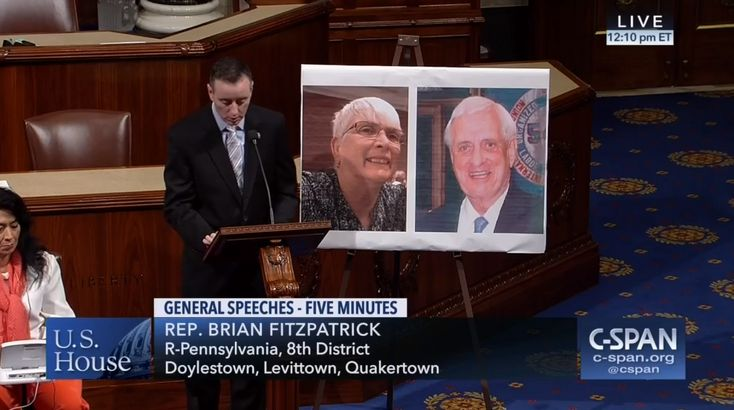 Who: Representative Brian Fitzpatrick (R-Pennsylvania)  Twitter: @repbrianfitz  When: October 2017  What: Elly McNelis and Bobby Heenan  Watch on C-SPAN  Read Congressional Record