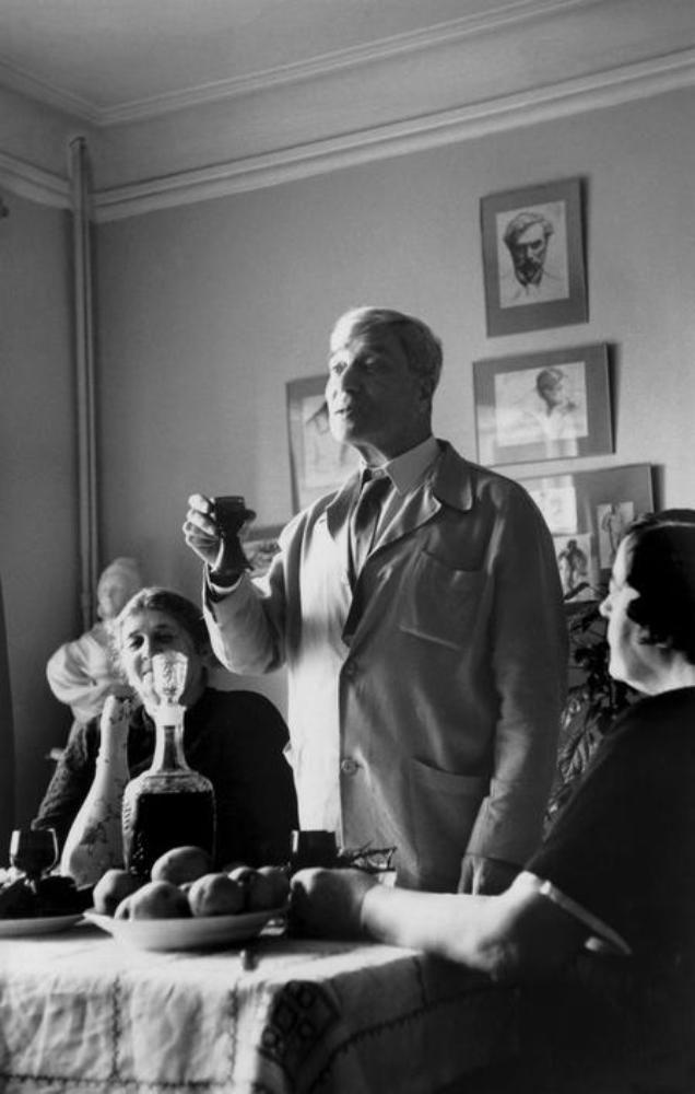 Cornell Capa. Boris Pasternak celebrating his Nobel Prize for Literature with his wife Zinaida Nikolaievna 1972
