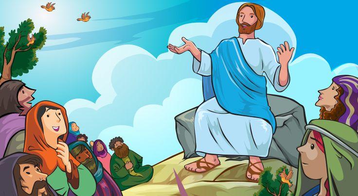 Jesús enseña el Sermón del Monte