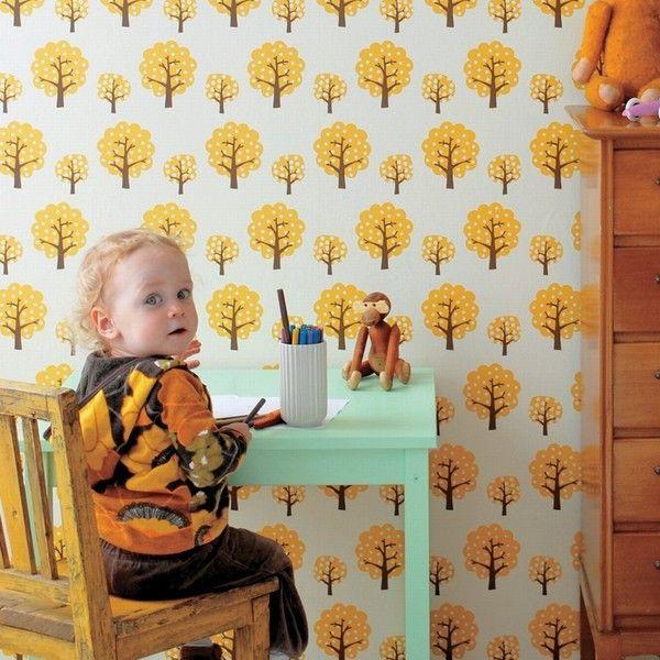 Ferm Living Dotty geel behang geel | FLINDERS verzendt gratis