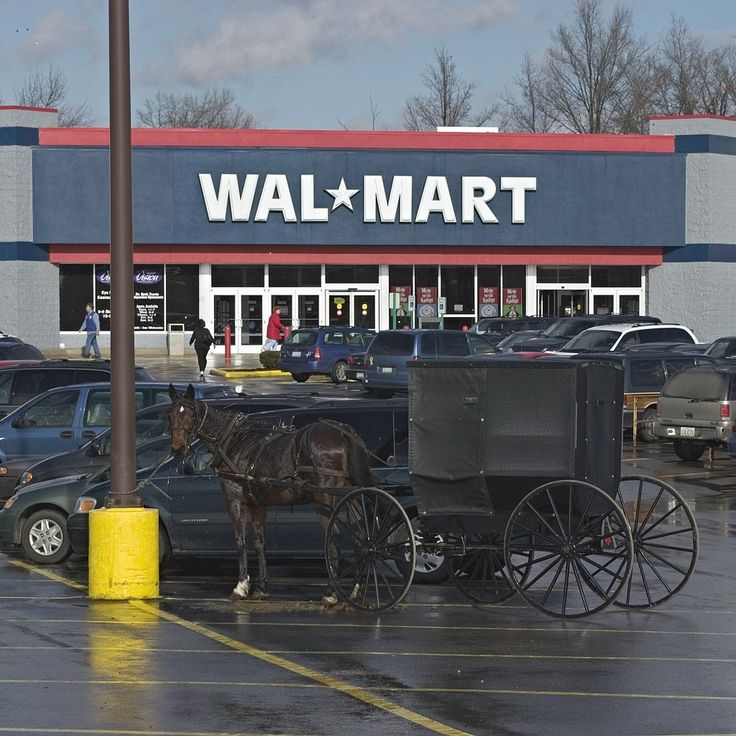 The Amish shop at Walmart too.