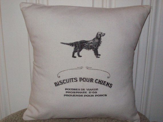 shabby chic, feed sack, french country, vintage French dog biscuit advert 14