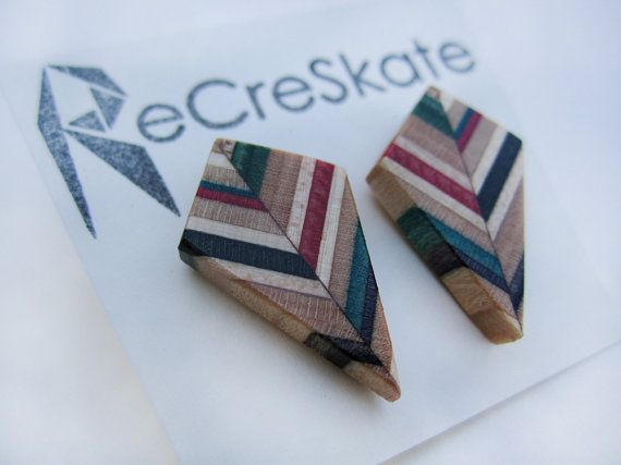 MULTICOLOR KITE recycled skateboard stud by AdrianMartinus on Etsy