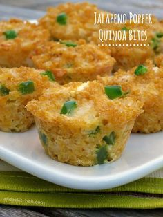 Jalapeno Popper Quinoa Bites - Alida's Kitchen #recipes #WeekdaySupper #ChooseDreams