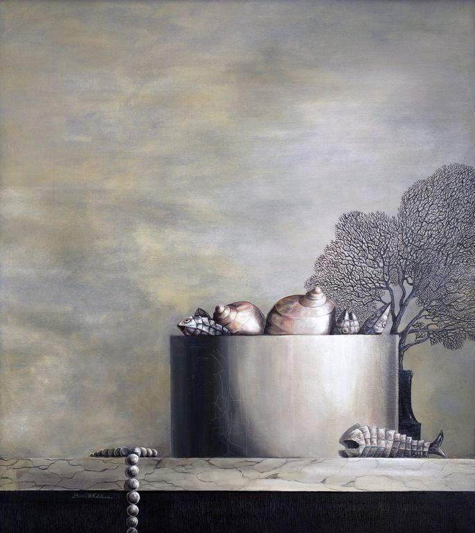 FANCY oil on canvas by Hamid Nicola Katrib