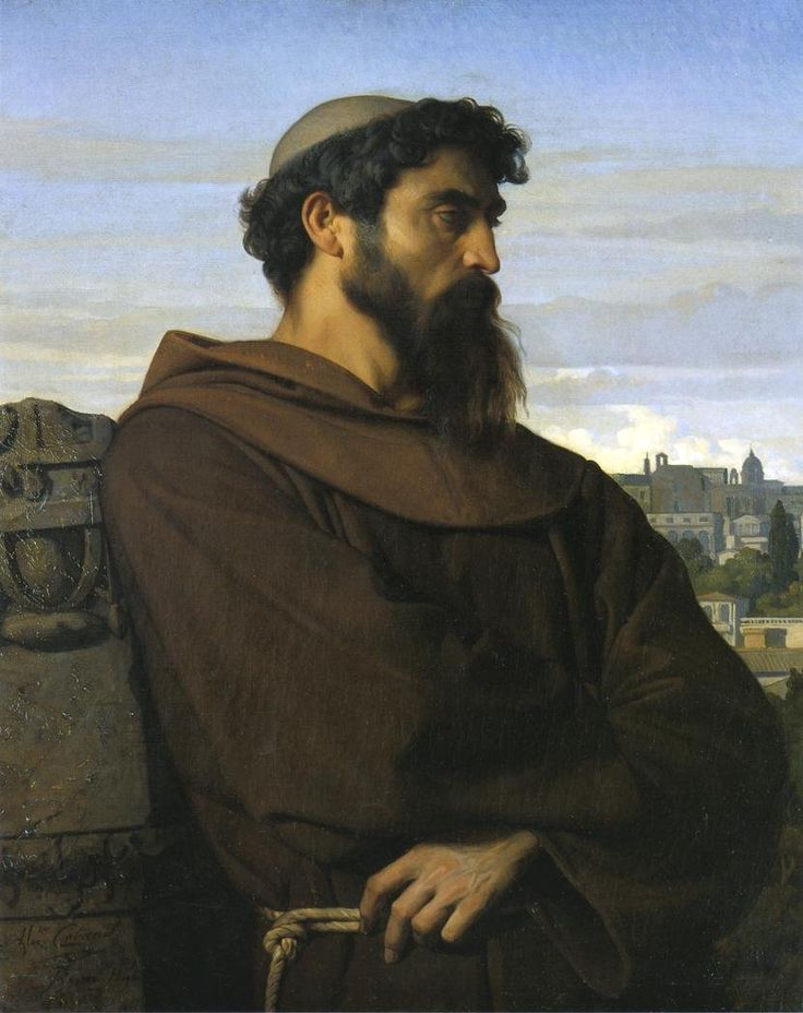 A Thinker, a Young Roman Monk by Alexandre Cabanel (1848)