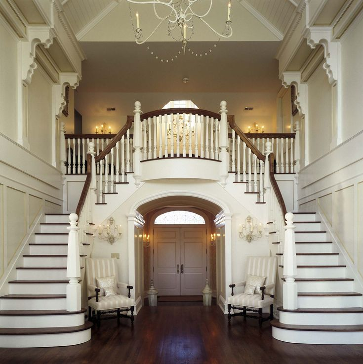 Best 25 grand staircase ideas on pinterest grand foyer for Double curved staircase