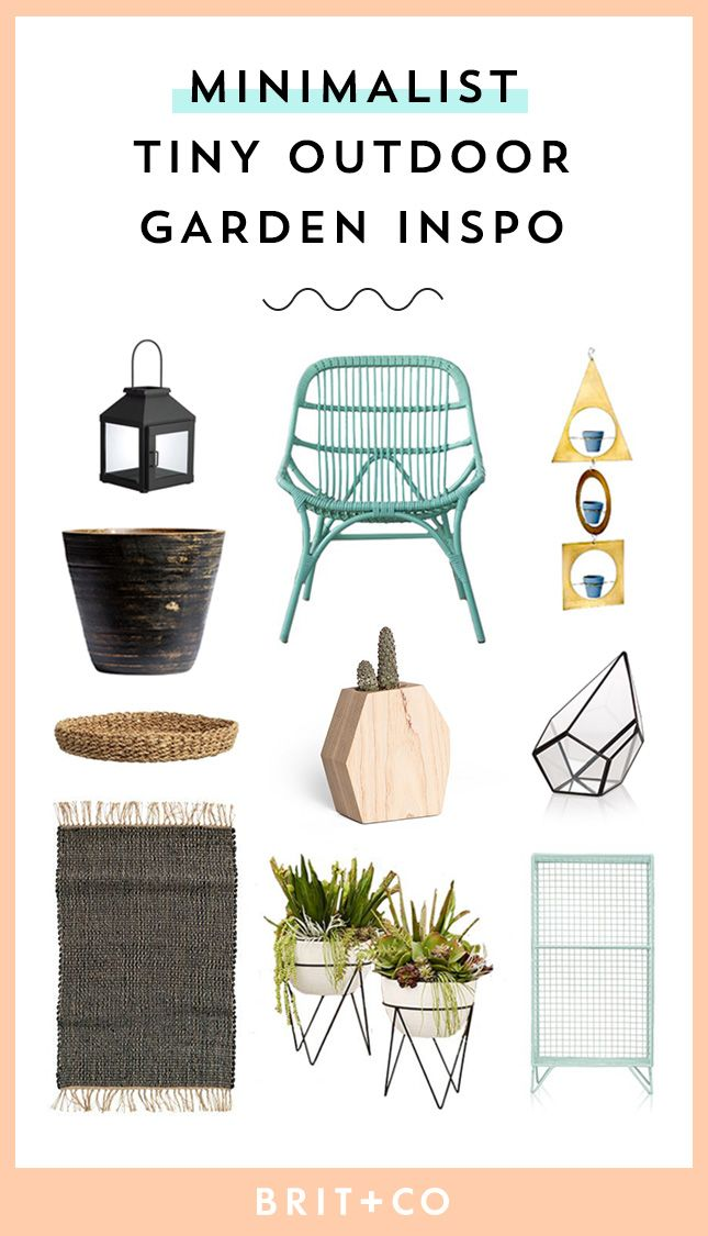 Give your tiny outdoor garden a minimalist vibe with these patio decor pieces.