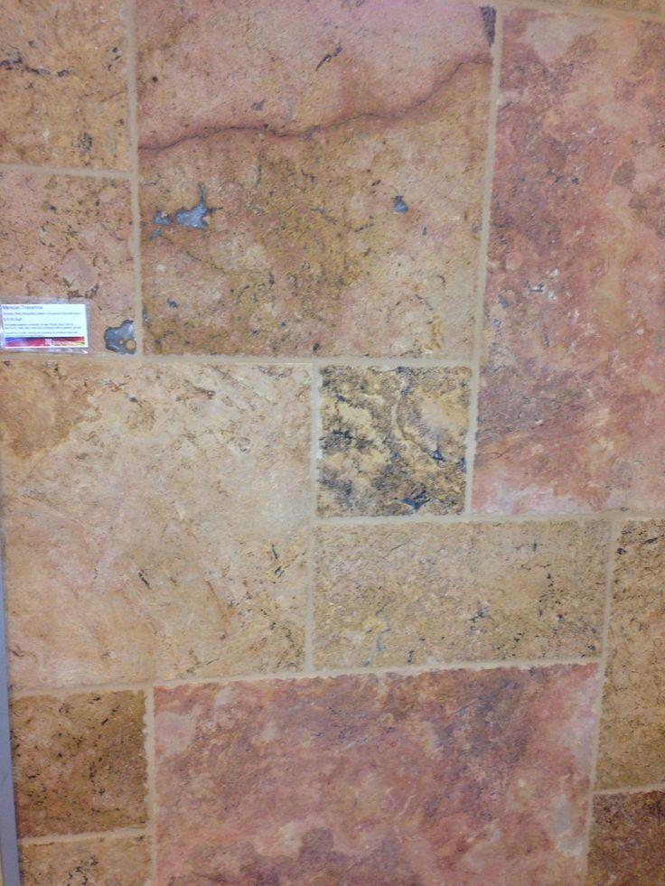 Mexican Travertine   Arizona Red   Floor Tile