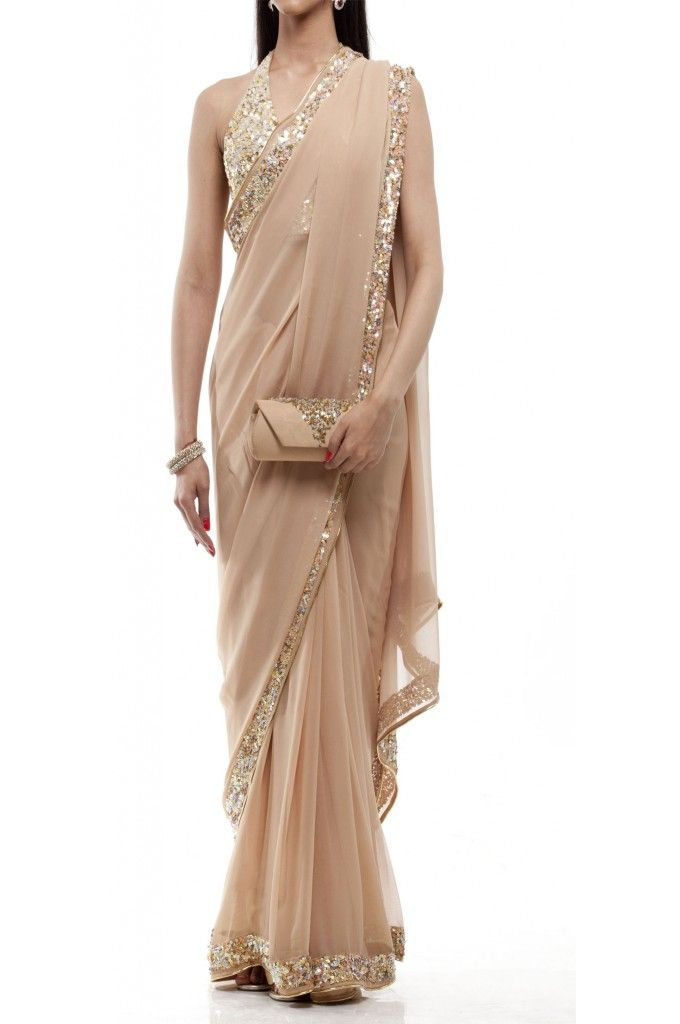 Champagne Saree Nude #FlashSaleFriday - Now at $125!