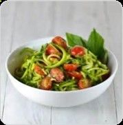 There are lots of healthy, low-acid, low-carbohydrate dishes that you can enjoy with Diabetes. And remember, once you get your insulin and blood sugar levels under control, you can add in nutritious grains like quinoa. But in the meantime, today's recipe is a delicious take on traditional pesto that combines basil, parley, and mint served over spiralized zucchini noodles, an acid-free alternative to pasta for anytime you crave a bowl of comfort food. Dr. Daryl Gioffre #Alkamind #GetOff...