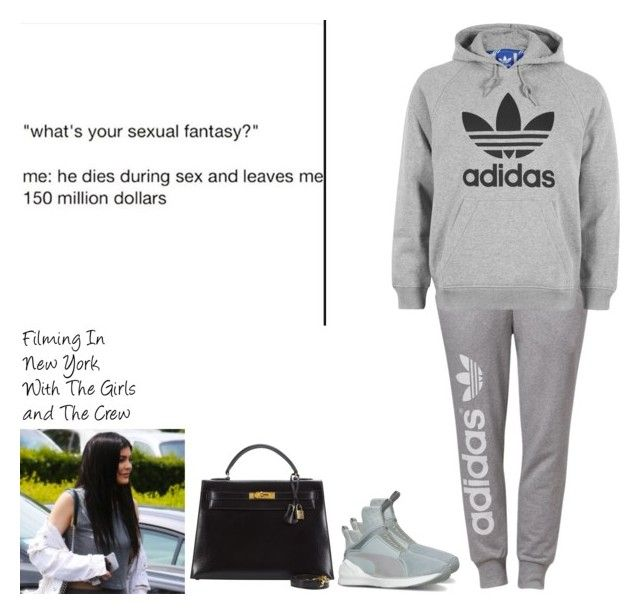 """""""Filming In New York With The Girls and The Crew"""" by britneygeminigirl on Polyvore featuring adidas Originals, adidas, Puma, Hermès and mood"""