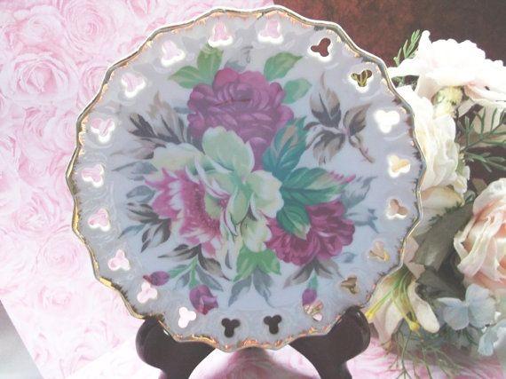 Norcrest Pierced Porcelain Plate by MemeresAttic on Etsy