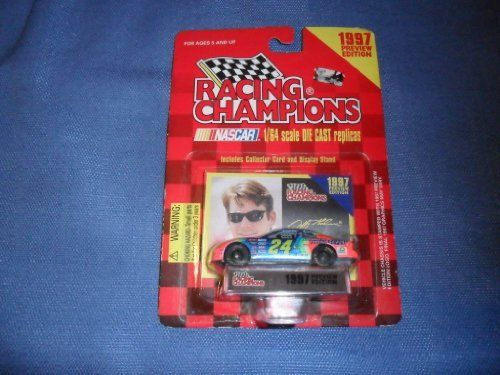 1993 Racing Champions Jeff Gordon #24 Dupont 1:64 Scale Die Cast Car with Collector Cars and Display Stand by Racing Champions. $4.95. Stock Car Nascar. High Speed Freewheeling Stock Cars. 1993 Racing Champions Jeff Gordon #24 Dupont. Ages 5 and up. Nascar on the Display Stand. 1993 Racing Champions Jeff Gordon #24 Dupont 1:64 Scale Die Cast Car with Collector Cars and Display Stand.