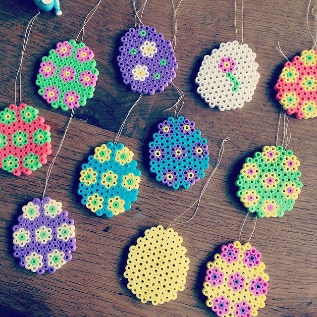 Easter eggs hama perler by janni_e