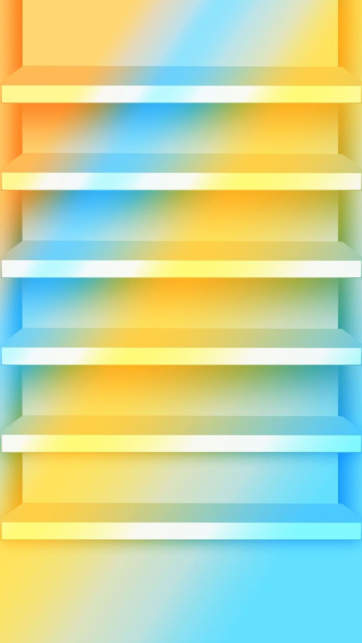 Shelves Stylish Blue Yellow Gradient Ombre Bright App WallpaperWallpaper ShelvesDesktop