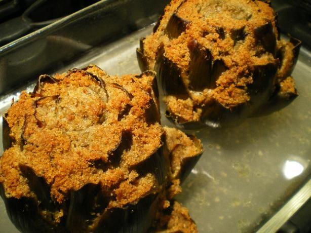 Italian Stuffed Artichokes: Stuff 'em good. (Cheese Appetizers Bread Crumbs)