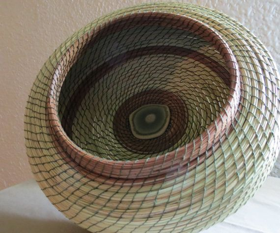 Handmade Pine Needle Baskets : Images about pine needle baskets on