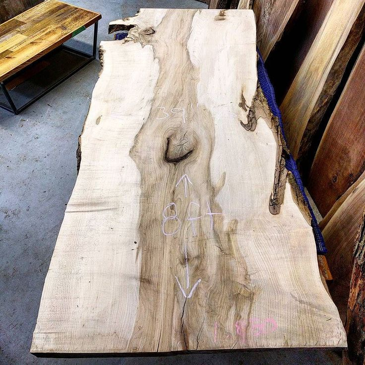 Happy Slabturday!  Here is our feature slab of the day - an 8 ft by 39 inch 2.5 inch thick monster maple.  This will make a stunning dining table or restaurant communal table.  We can custom finish it and add some cool steel legs.  DM us at sales@barmboardstore.com for pricing.  Come visit us Saturday from 9-2 in our huge warehouse / shops in Hamilton and Toronto to check out some amazing live edge slabs and of course - barn board.  #liveedge #liveedgemaple #blackwalnut #barnboard #barnwood…