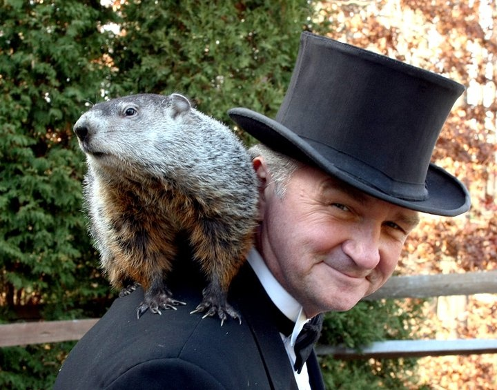 """The celebration of #GroundhogDay began with Pennsylvania's earliest settlers. They brought with them the legend of Candlemas Day, which states, """"For as the sun shines on Candlemas Day, so far will the snow swirl in May..."""""""