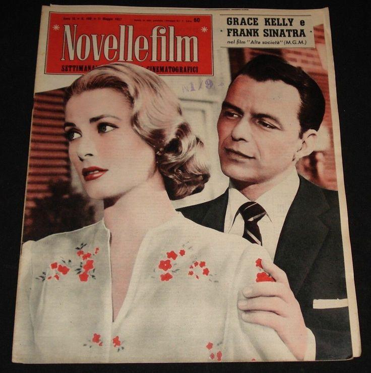 "1957 FILM MAG "" NOVELLE FILM "" FRANK SINATRA GRACE KELLY BRIGITTE AUBER"