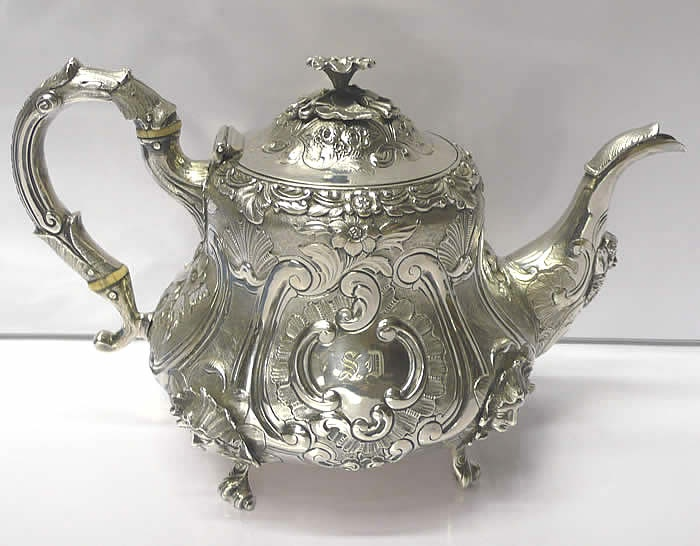 Victorian Silver Tea Set for sale - waxantiques online gallery of antique silver