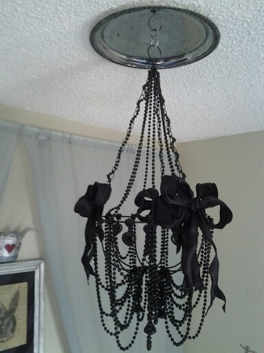 Diy chandelier cost under 30 made with stuff from the for Cool diy chandeliers