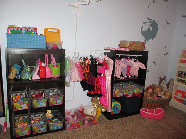 Big Girl Playroom Inspired By Martha Stewart. Turn Bookcases Into A Dress Up  Closet