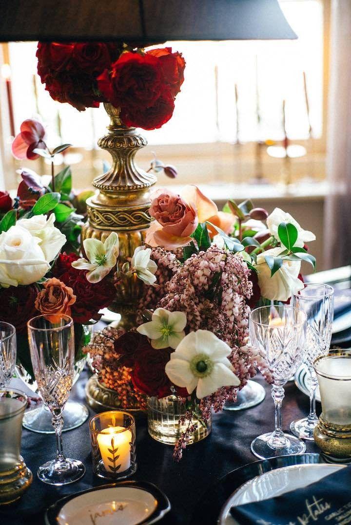 Gorgeous Fall wedding centerpiece idea; photo: Natasja Kremers Photography