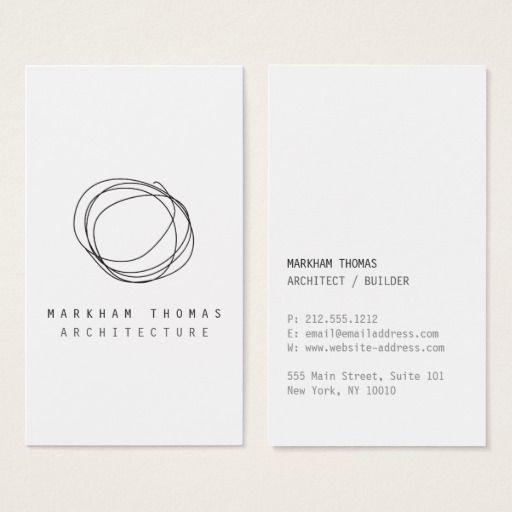 Logotipo mínimo y moderno del garabato del tarjeta de negocios