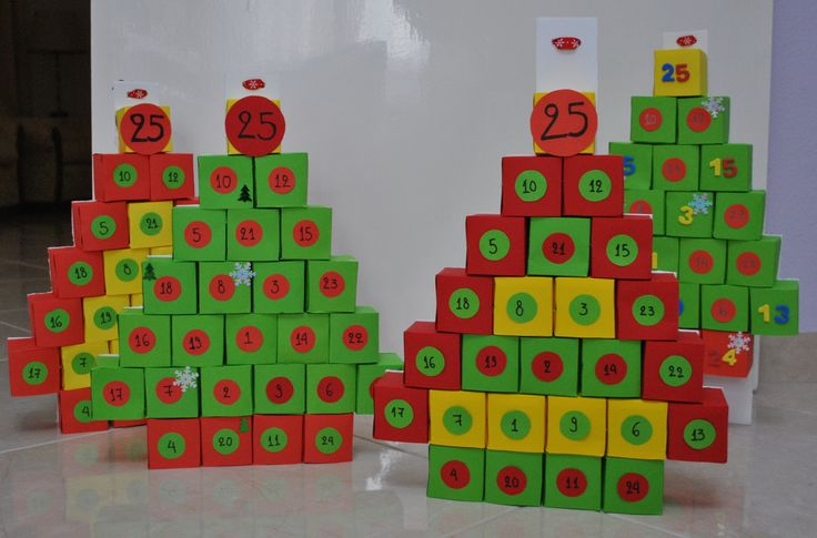 DIY Christmas advent calendars for toddlers