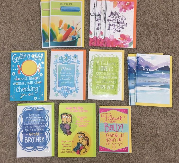 Hallmark Greeting Cards Lot Of 12 ~New~Wrapped/Unwrapped Birthday/BabyShower  | eBay
