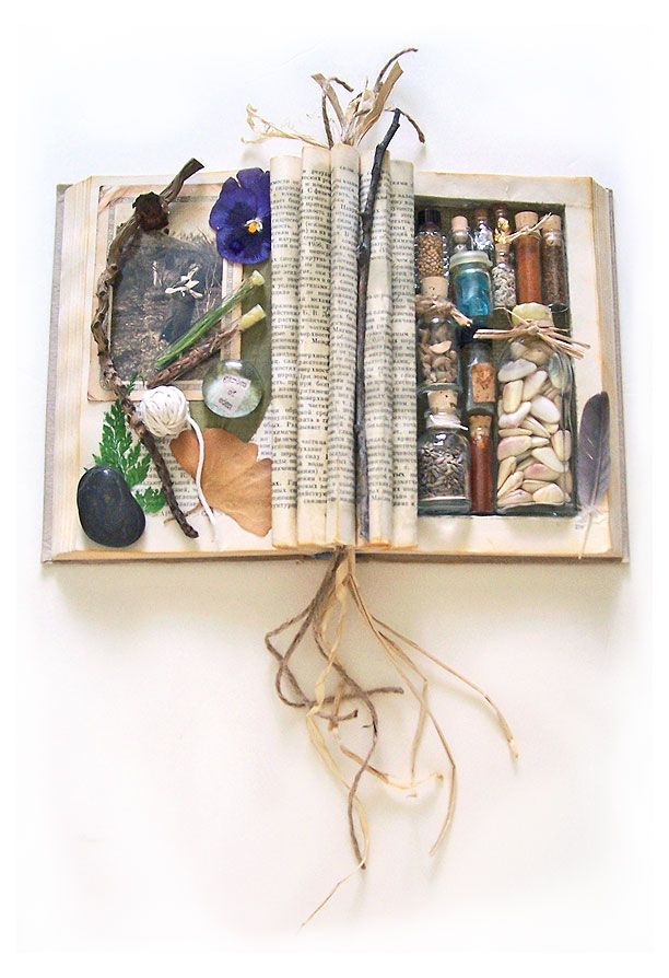 Beautiful altered book by Lisa Vollrath