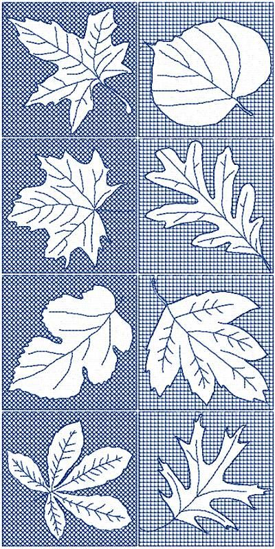 Advanced Embroidery Designs - Leaf Block Set