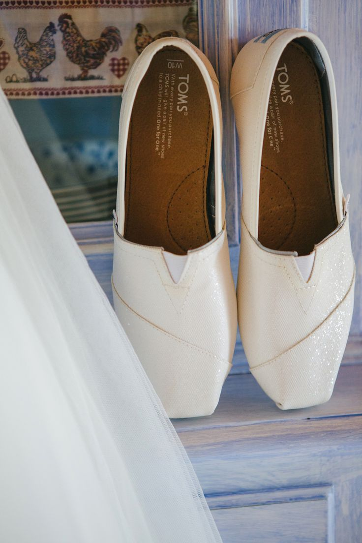 Super modern and fashion bride's Toms shoes!!