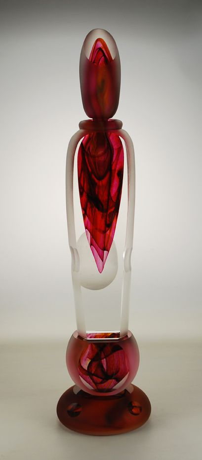 Shea Glass » Blog Archive » Large Red Perfume Bottle