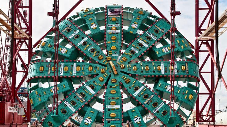 """Big Bertha:"" the biggest Tunnel Boring Machine on Earth."