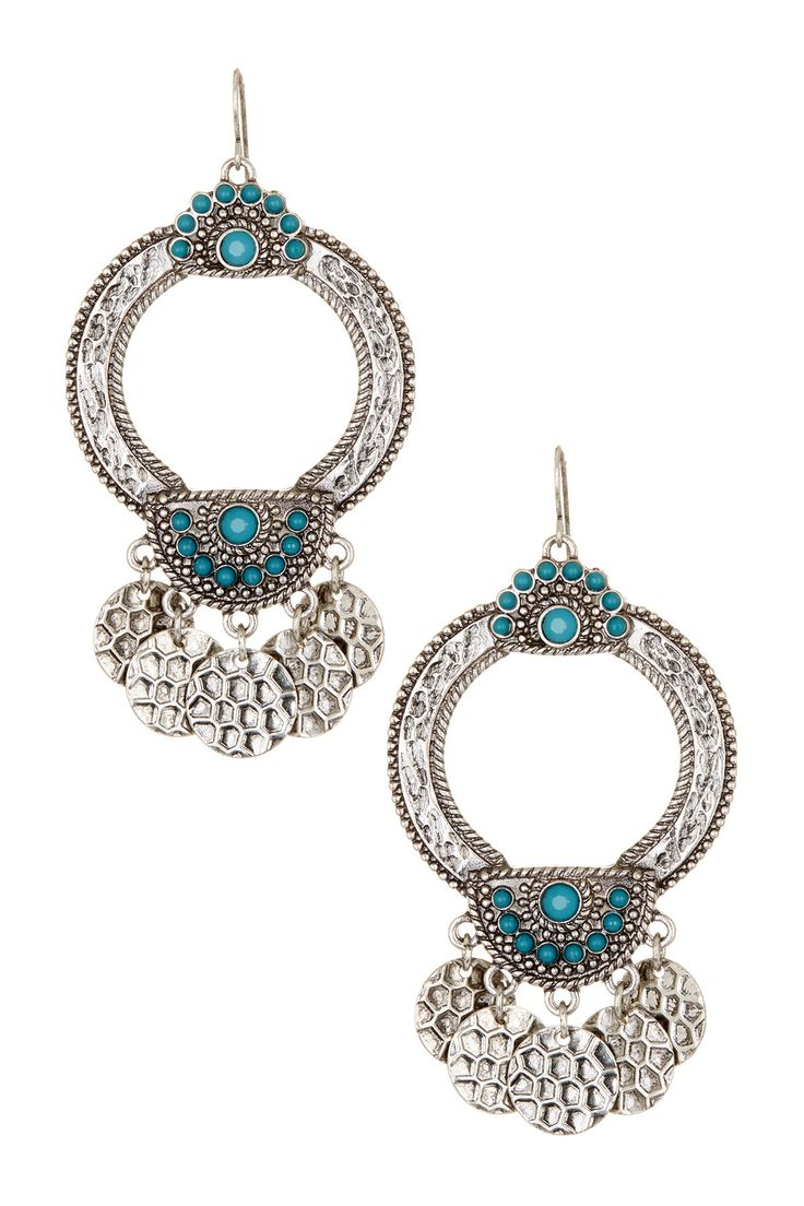 Large Textured Earrings by Stephan & Co on @nordstrom_rack
