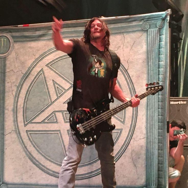 Norman Reedus at the Anthrax concert in Atlanta, GA 2016