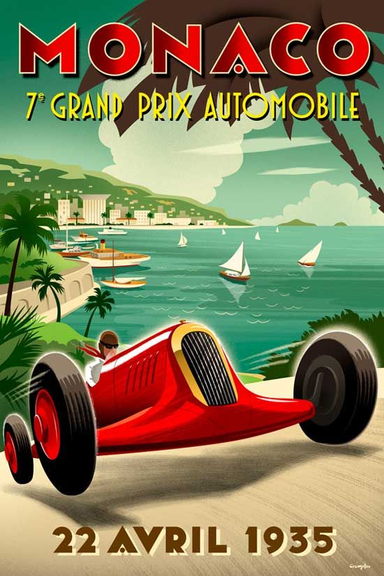 Vintage Posters of Racing Sports ~ #Vintage #Sports #Posters