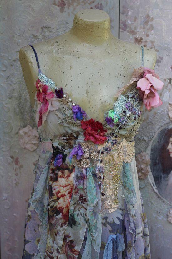 Zeemeermin jurk barokke geïnspireerd Boheemse door FleursBoheme