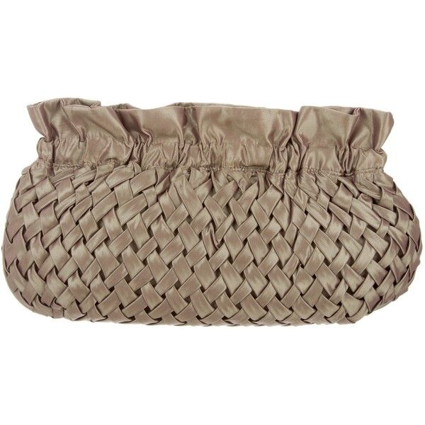 Pre-owned Reiss Nylon Basket Weave Clutch (1.014.300 IDR) ❤ liked on Polyvore featuring bags, handbags, clutches, neutrals, iridescent handbag, nylon purse, basket weave purse, kiss-lock handbags and brown handbags