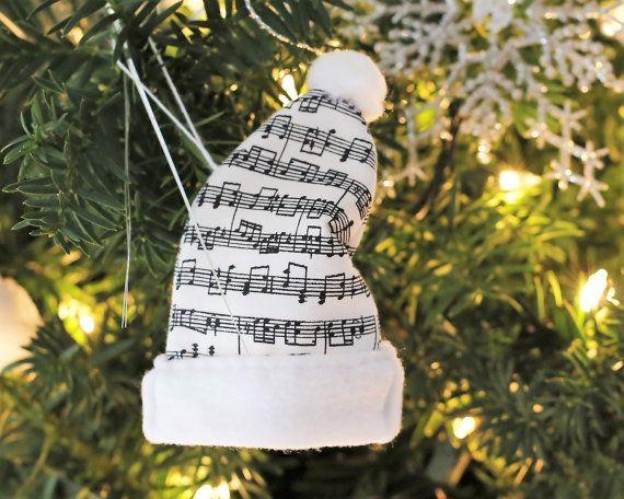 Musique Noël ornements musique Noël décorations musique arbre de Noël musique amateur Noël cadeaux ornement de musique cadeau professeur de Piano