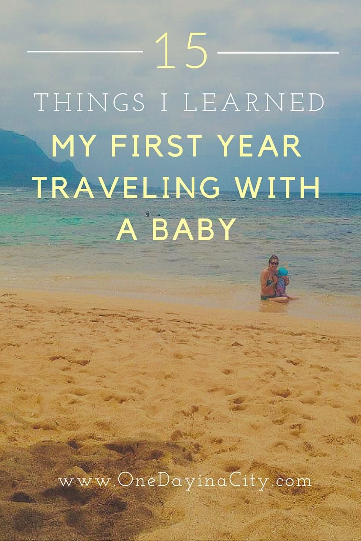 Ideas and tips for traveling with a baby, including flying, road tripping, packing, booking hotel rooms, and more.