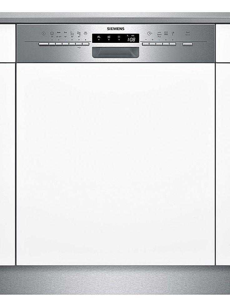 Siemens SN56P582EU SN56P582EU är en Halvintegrerad SpeedMatic diskmaskin från Siemens. Bredden ligger på 60 cm och designen är i rostfritt stål. Energieffektivitetsklass motsvarar A+++ och Torkeffektivitetsklassen ligger på A standard. Du har kapacitet för hela 14 standardkuvert med en ljudnivå: 44 dB(A)